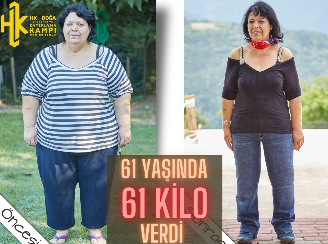 61 Yaşında 61 Kilo Verdi