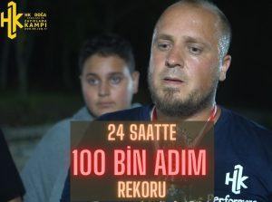 24 Saatte 100 Bin adım Rekoru